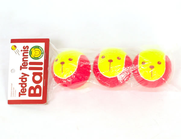 Teddy Tennis Balls 3-pack front view