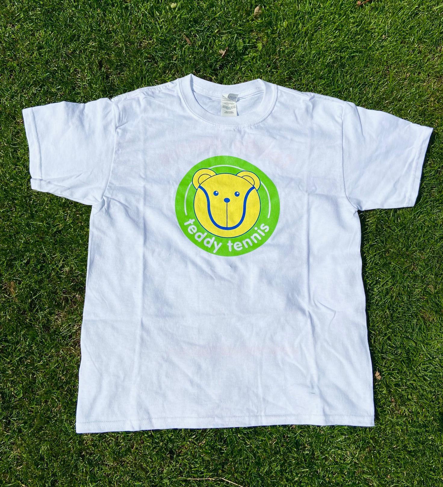 Teddy Tennis T-Shirt Size Medium ( Age 5 -6 )