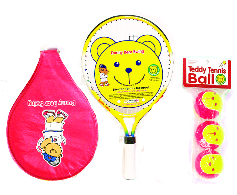 17″ Racket, Cover + Balls Set For Beginners Aged 2 – 4 Years